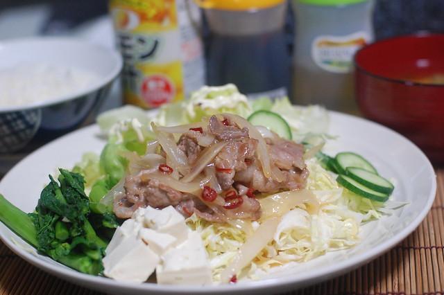ナンプラー使ってスパイシー豚サラダを作ったよ! #jisui