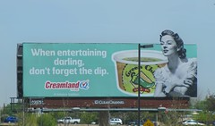 Life in New Mexico: Party Planning (rovingmagpie) Tags: chile newmexico albuquerque billboard dip creamland greenchile greenchiledip