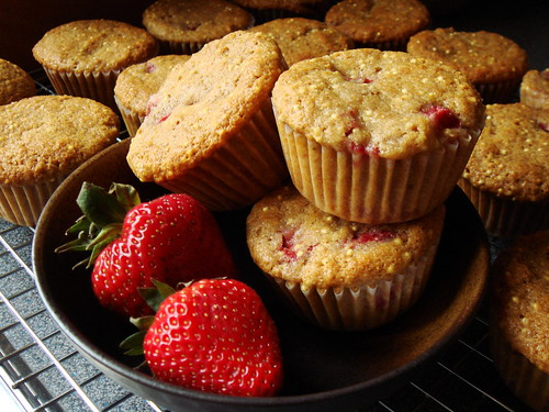 Strawberry Honey Millet Muffin