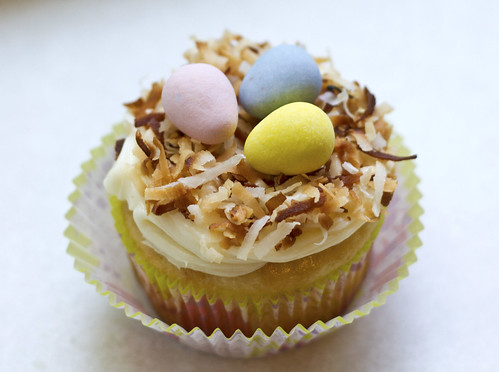 On My Menu: Coconut Nest Cupcakes for Easter