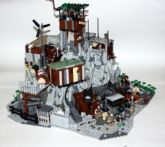 The Rock (South East View) (Babalas Shipyards) Tags: camp rock village post lego apocalyptic refuge outpost apocalego