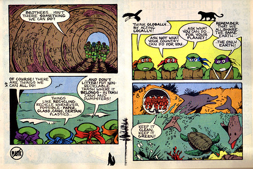 TMNT Adventures Special - Spring 1991 :: Teenage Mutant Ninja Turtles meet Archie // 'STORM DRAIN SAVERS', pg.45 (( 1991 ))