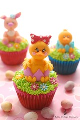 My Cutie Easter Chick!!! (Little Cottage Cupcakes) Tags: rabbit bunny grass easter cupcakes egg chick easterbunny easteregghunt fondant easteregg easterchick sugarpaste littlecottagecupcakes