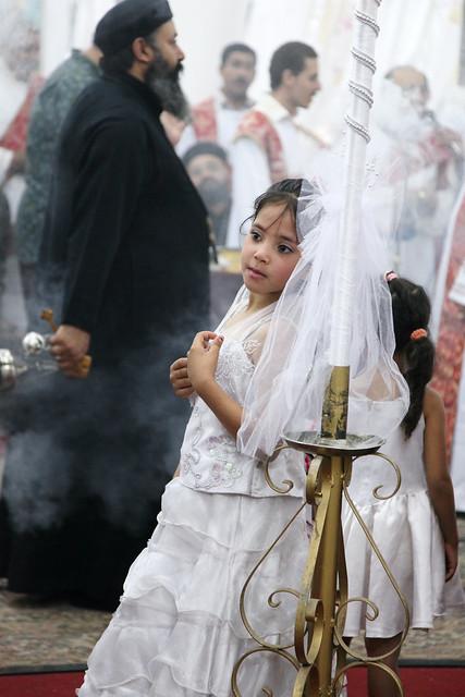 エジプト、アスワン、コプト教の結婚式