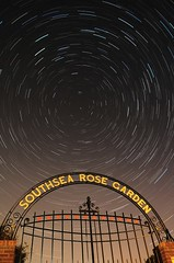 Southsea Rose Garden - stacked with StarStaX for Mac (AndWhyNot) Tags: rose night garden star long exposure trails southsea startrails 2516 starstax wwwstarstaxnet