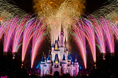 Fireworks Over Cinderella Castle (Tom.Bricker) Tags: orlando nikon florida disneyland disney disneyworld mickeymouse cinderella wdw waltdisneyworld magickingdom waltdisney cinderellacastle disneypictures cinderellafountain disneyphotos d7000 wdwfigment tombricker nikond7000