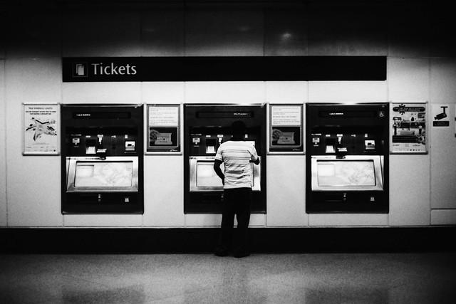 Ticketing Machine at the MRT
