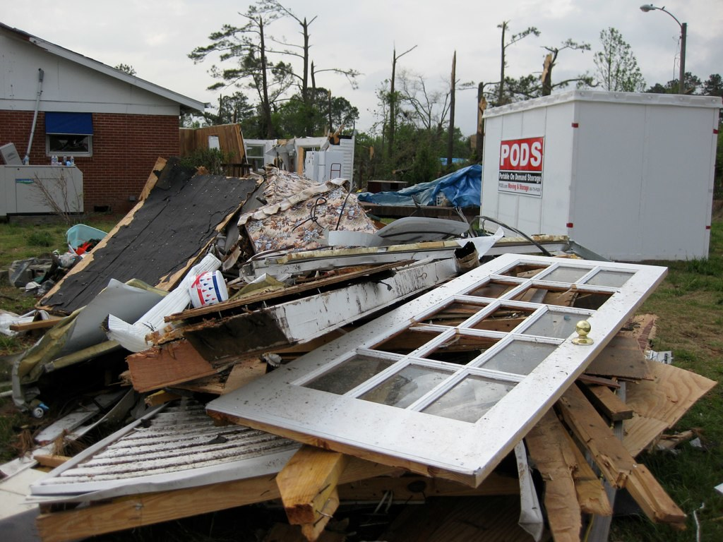 tornado damage, April 2011