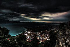 Nafpaktos in HDR (Bill_Giannoutsos) Tags: sky castle mediterranean greece hdr nafpaktos colorphotoaward platinumpeaceaward
