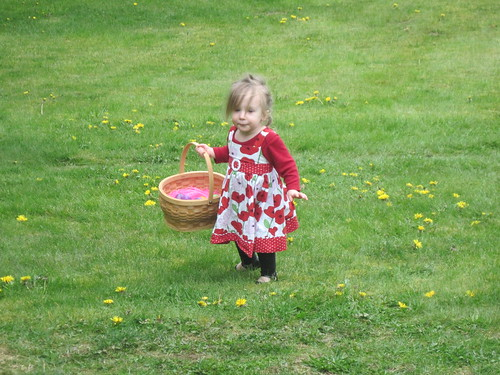 Ada egg hunting by Southworth Sailor