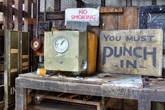 Punch Clock (tj.blackwell) Tags: old uk england urban abandoned leather rural closed industrial factory yorkshire equipment machinery works disused maker exploration derelict murphys tanning tool decaying manufacturers menston imperialworks glmurphy