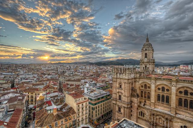 View of the city of Malaga – Vista de la ciudad de Málaga (Spain), HDR