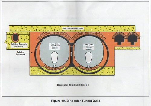 Cross section of the tunnel