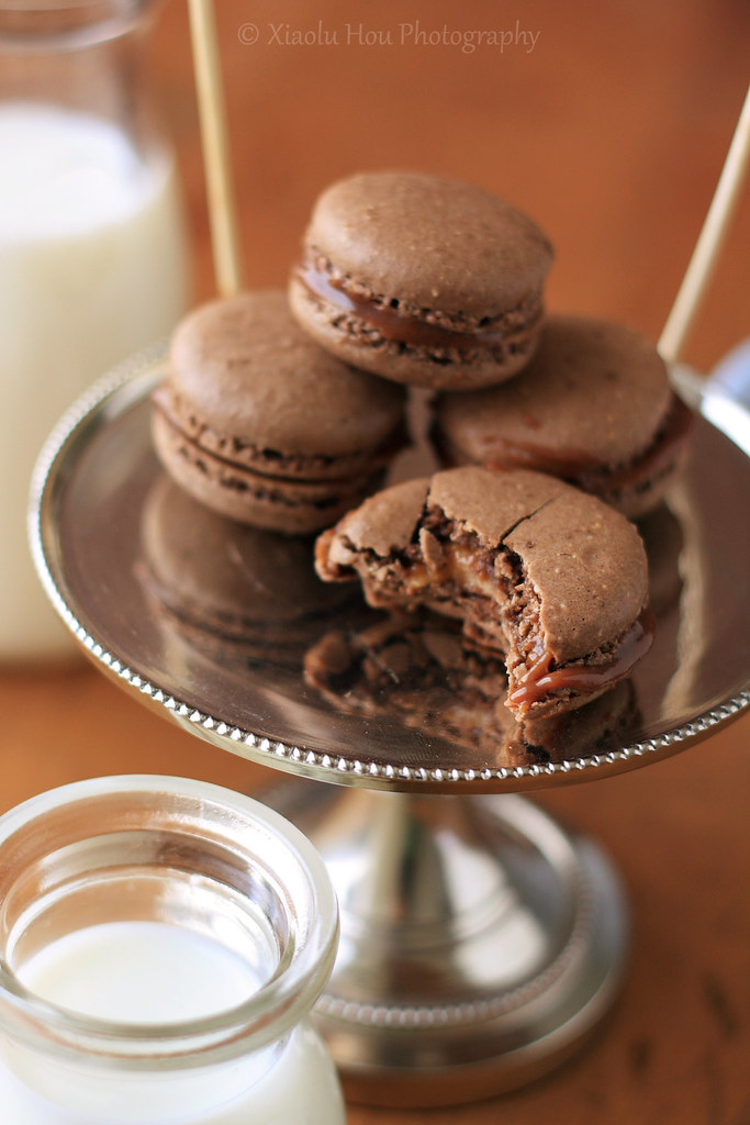 Snickers Macaron Closeup