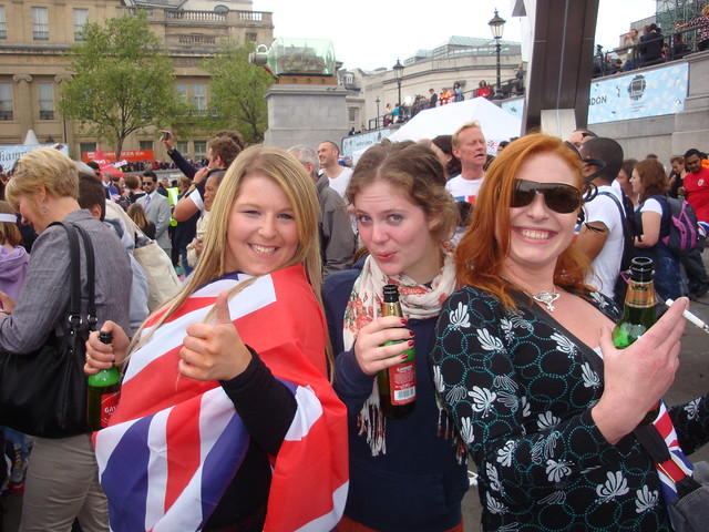 Royal Celebration in Trafalgar Square 1755