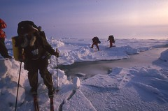 Going Around a Lead (Weber Arctic Expeditions) Tags: ice richard misha weber northpole frostbite arcticocean polarexpedition malakhov wardhuntisland fischerskis polarbridge polartraining capearkticheskiy dimitrishparo shparo