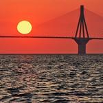 Bridge and Yellow Sun