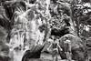 (brainofp) Tags: bw elephant stranger boulder rockclimbers fontainebleau kodaktmax400film