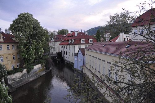 Canal beneath Charles Bridge