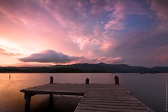 Dawn (Ollie Kershaw ) Tags: wood morning lake colour water clouds sunrise reflections landscape dawn dock scenery exposure district derwent lond cumbria nd hitech mariner portinscale