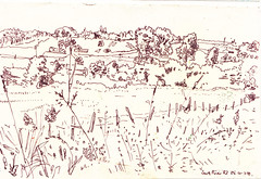 South river (Martin Beek) Tags: travel usa art america idea sketch drawing michigan sketchbook line study 1984 americana americantraveldrawings