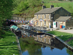Standedge Canal Tunnel (jrw080578) Tags: trees buildings reflections boats canal yorkshire tunnel narrowboats huddersfieldnarrowcanal canalsidehouse