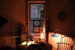 early out (omoo) Tags: newyorkcity window chair apartment interior westvillage diningroom windsor collectibles furnishings greenwichvillage airshaft earlyout gothiccottagebirdfeeder greencountrytable