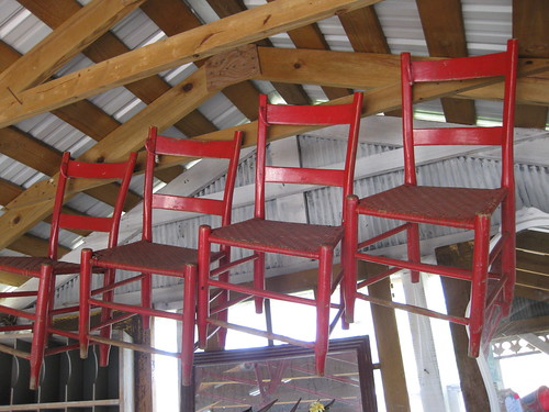 Red chairs--Lucketts