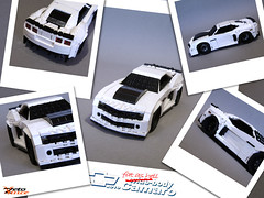 Wide-body Camaro (Polaroid frames) (ZetoVince) Tags: white chevrolet car greek lego offroad wide vince camaro chevy vehicle stubby blackrims stubbies zeto 10wide pullbackmotor zetovince dreamdealer