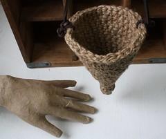 Hanging jute Cone-2 (umelecky) Tags: basket cone handmade crochet ecofriendly hangingbasket jute umelecky 5320112 conebasket