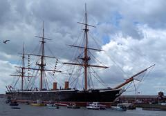 HMS Warrior (hobbitbrain) Tags: sea bird sailing ship harbour sails vessel portsmouth mast sailor frigate 1860 hmswarrior