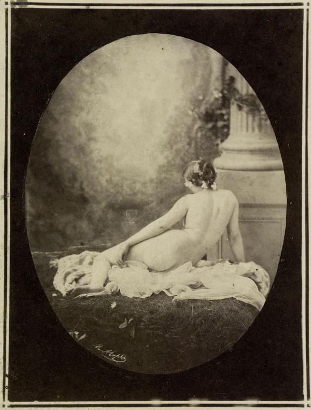 Alophe, Marie-Alexandre Reclining female nude 1860s