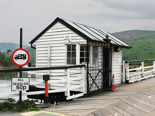 Toll bridge pay point by Helen in Wales