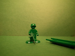 Join the green marines. (Private J. Lang 101st Airborne) Tags: usa guy green soldier army marine lego halo vietnam sniper hazmat apoc