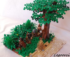 On the move (Legoorci) Tags: africa tree forest river fight kill desert lego arab jungle axe blacks whites arabian squad imperialism racism colony slave africans moc custome brithish weaopons