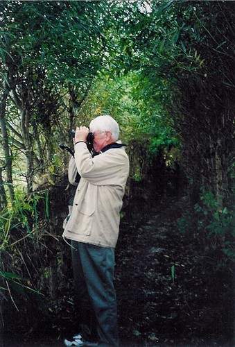Daddy birdwatching in Holland