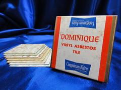 Vintage Congoleum-Nairn Dominique Vinyl Asbestos Tile Set (Asbestorama) Tags: vintage tile 60s floor inspection vinyl retro safety sample dominique vat survey resilient salesman 1964 1060s nairn asbestos covering congoleum specifier