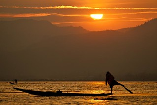 Inle lake sunset - Myanmar