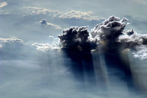 Gewitterwolken, aus der ISS fotografiert