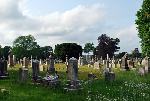 Corner View of Yantic Cemetery