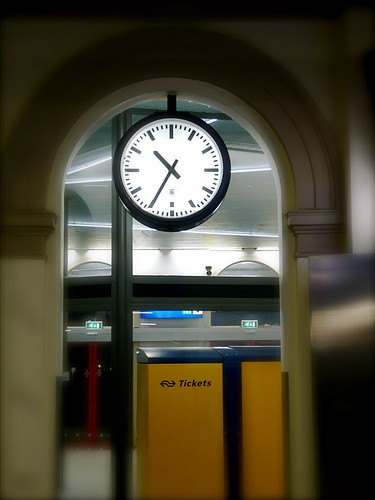 TN TeleNorma Station Slave Clock in Zwolle Central Station the Netherlands