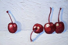 "Nicole Leigh Smith, Cherries, 6"" x 9"""
