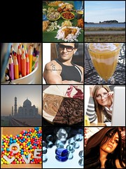 About Me Flickr Mosaic Thingy (India Nadeau) Tags: india love curry cheesecake brightcolors eclectic saifalikhan mangolassi tashauna indianadeau businessswoman southwestmn