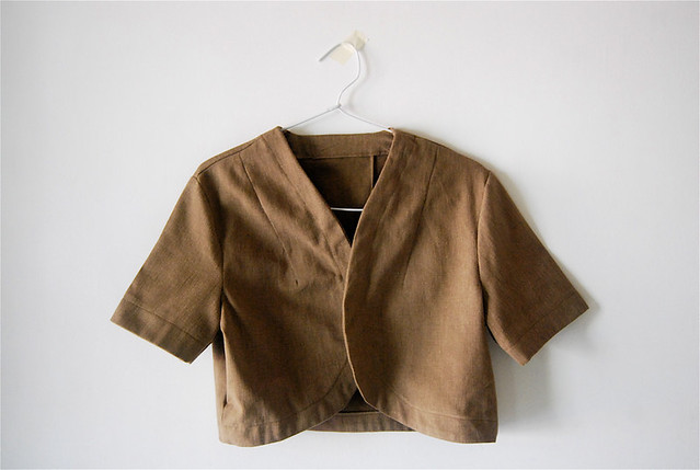 light brown bolero