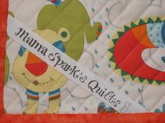 Chenille blanket label