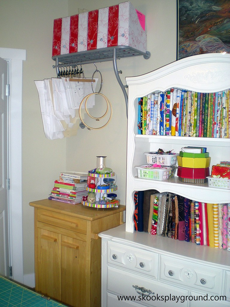Fabric Hutch and Supply Cabinet