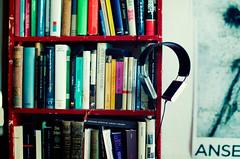 merged shelf (nællo) Tags: books bookshelf headphones