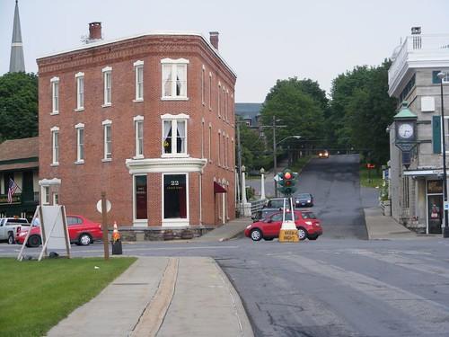 Canajoharie's major intersection