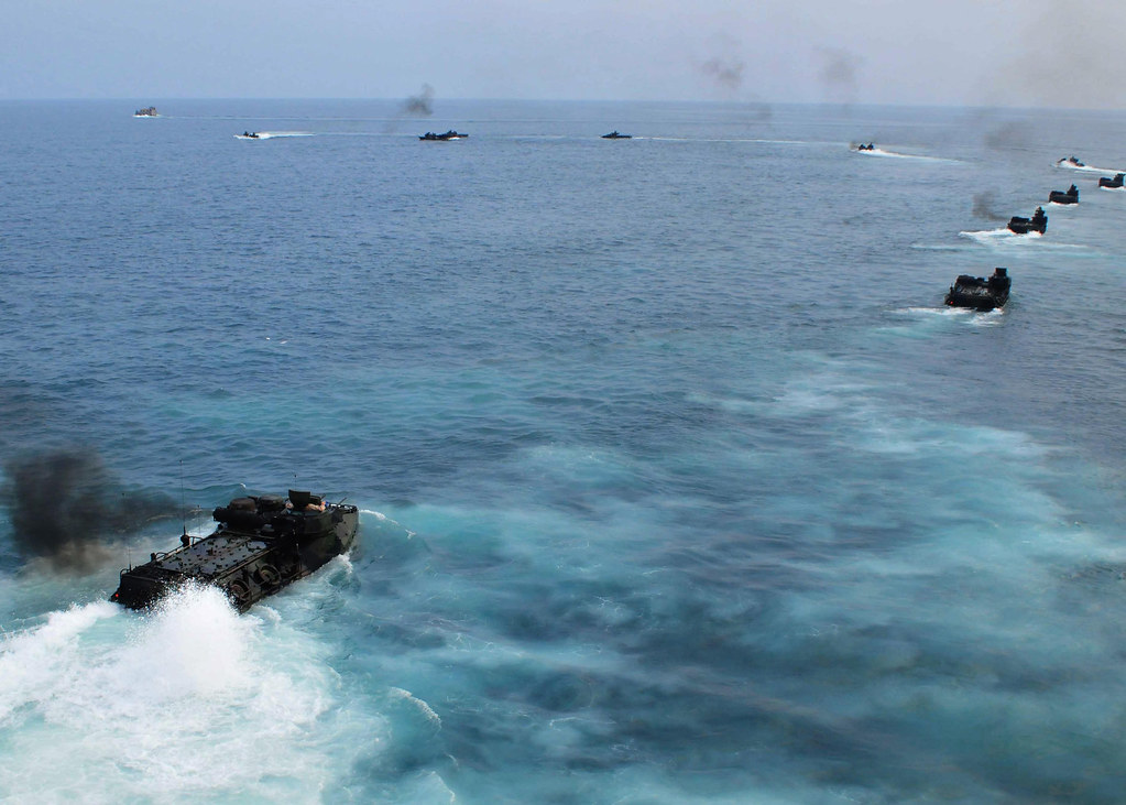 USS Tortuga (LSD 46) conduct an amphibious landing exercise during CARAT Malaysia 2011