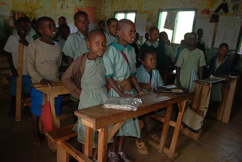 Class 2 at Nkararo Primary School. With over 70 students, how are they supposed to learn?